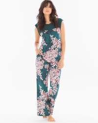 Midnight by Carole Hochman Chiffon Plus Size Pajama Set Bouquet