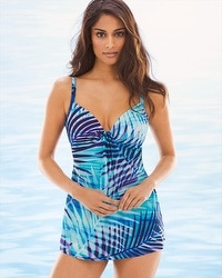 Miraclesuit Palm Reader Marina Tankini Swim Top