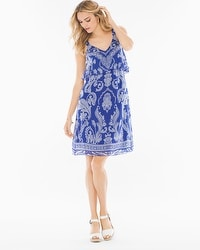 Chiffon Flounce Short Dress Spirit Paisley Jewel