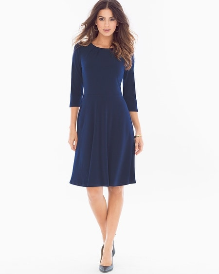Simone Fit and Flare Dress Sapphire