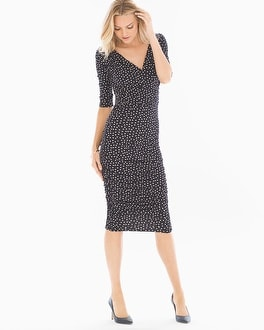 Leota Evelyn Midi Dress Black/Ivory Confetti Dot