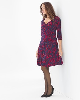 Leota Long Sleeve Sweetheart Print Dress Pansy