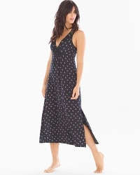 Midnight by Carole Hochman Lace Nightgown Dots
