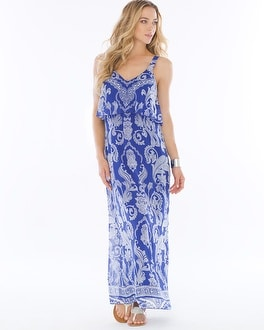 Chiffon Flounce Maxi Dress Spirit Paisley Jewel