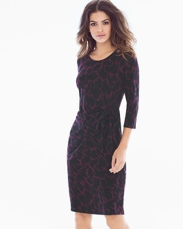 Leota Madison Long Sleeve Dress Ebony Plum
