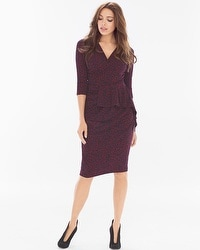 Leota Scarlet Long Sleeve Short Dress Smoldering