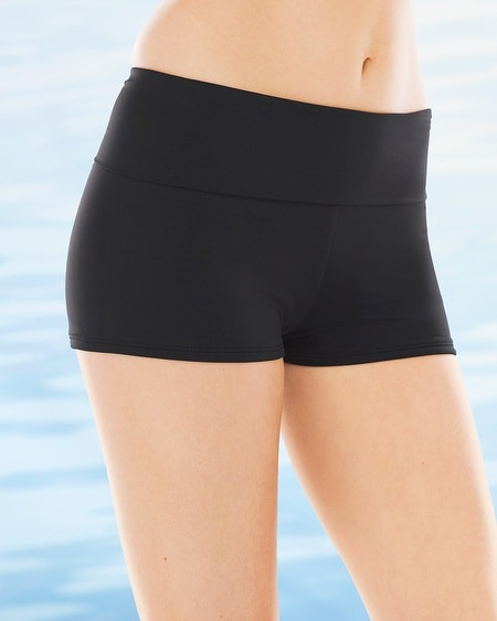 Game Set Mesh Foldover Boyshort Swim Bottom