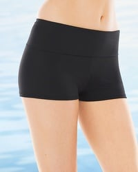 La Blanca Game Set Mesh Foldover Boyshort Swim Bottom