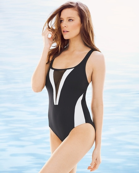 Game Set Mesh One Piece Swimsuit