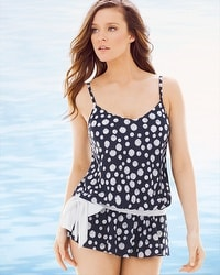 Miraclesuit Dots Hot Whimsy Tankini Swim Top