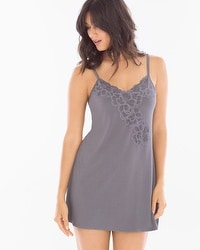 Floral Lace Sleep Chemise Excalibur Grey