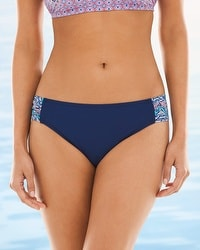 Captiva Tulum Aqualina Side Shirred Hipster Swim Bottom
