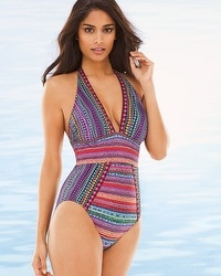 Gottex Nefertiti Halter One Piece Swimsuit