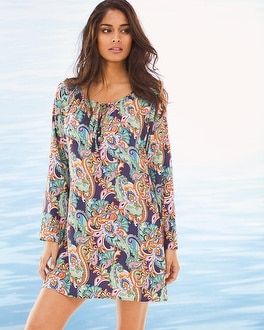 Tommy Bahama Mare Paisley Tunic Swim Cover Up