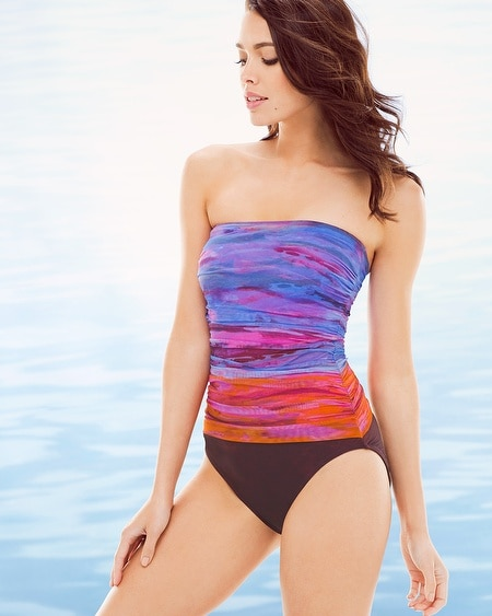 Horizon Bandeau One Piece Swimsuit