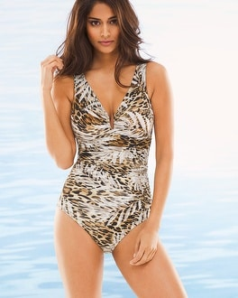 Miraclesuit Sheer Safari Palisades One Piece Swimsuit