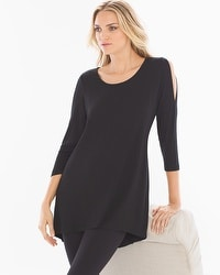 Live. Lounge. Wear. Cold-Shoulder Tunic Black