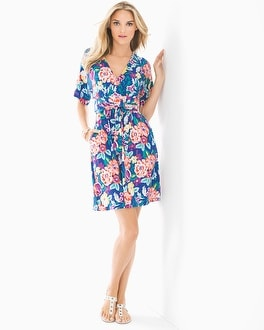 Soft Jersey Kimono Wrap Short Dress