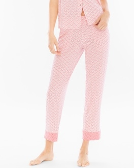 Cool Nights Ankle Pajama Pants Dynamic Dot Ivory