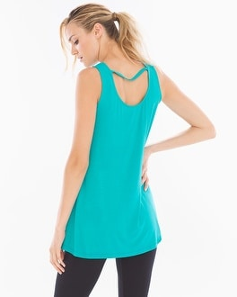 Cowlneck Sleeveless Tunic Viridian Green