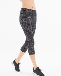 Soma Sport Crop Leggings Dash Dot Black