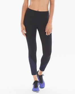 Soma Sport Mesh-Detail Leggings Black