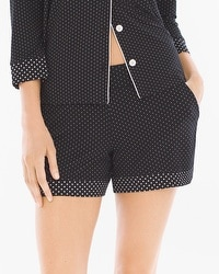 Cool Nights Pajama Shorts Little Dot Black