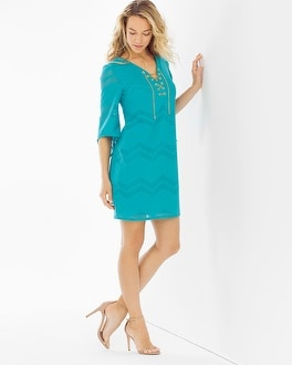 London Times Tunic Dress Aqua