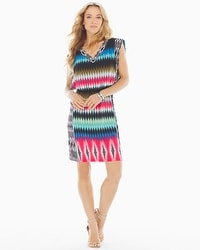 London Times V-Neck Dress Multi