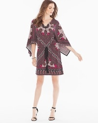 London Times Kimono-Sleeve Short Dress