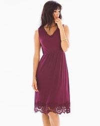 Venice Hem Sleeveless Short Dress Marsala