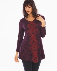 Live. Lounge. Wear. Front-Angled Hem Tunic Eccentric Marsala
