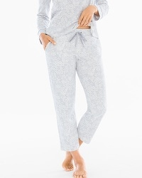 Embraceable Ankle Pajama Pants Opulent Lace Mini Gray