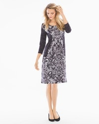 3/4 Sleeve Short Dress Lacery Excalibur