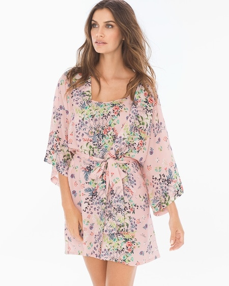 Daylilly Crepe Short Robe Cover Up