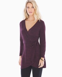 Live. Lounge. Wear. Melange Wrap Tunic Marsala/Black