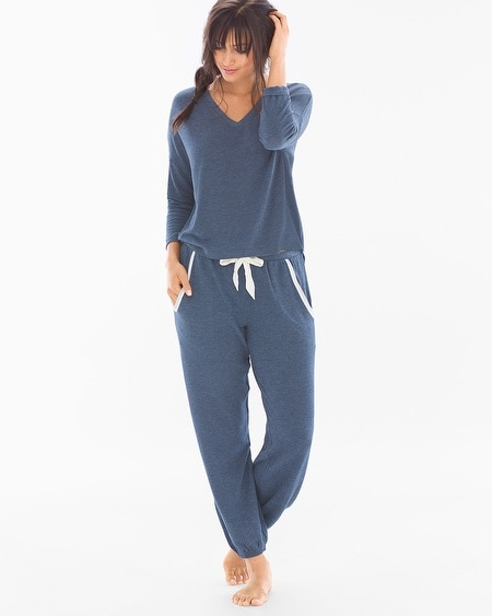 Cozy Lounge Pullover Set Navy Heather