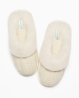 Patricia Green Vail Slippers Ivory