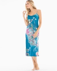 Natori Serene Long Nightgown Seaport Blue