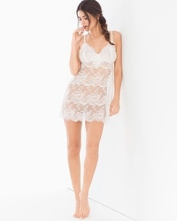 Sheer Lace Sleep Chemise Ivory