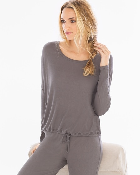 Luxe Ribbed Pullover Lounge Top