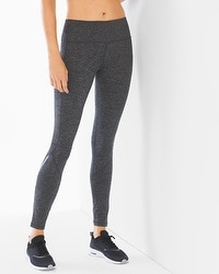 Slimming Miraclesuit Sport Back Zip Leggings Charcoal Heather
