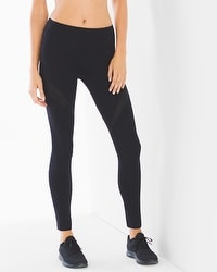 Slimming Miraclesuit Sport Faux Leather Leggings Black