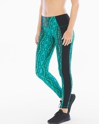 Slimming Miraclesuit Sport Reversible Print Leggings Green