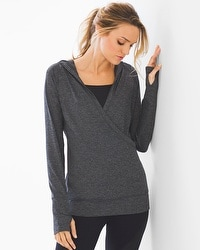Slimming Miraclesuit Sport Hooded Pull Over Charcoal Heather