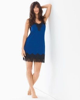 Regal Lace A-Line Sleep Chemise Majesty Blue