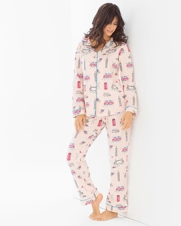 BedHead Pajamas Knit Pajama Set London Calling