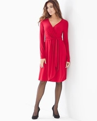 Faux Wrap Short Dress Ruby