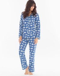 BedHead Pajamas Knit Pajama Set Navy Three Ring Circus