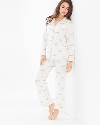 BedHead Pajamas Cotton Blend PJ Set Champagne